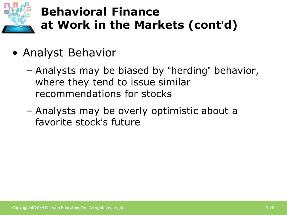 behavioral finance in herd behavior It is particularly relevant in the domain of finance,  a simple model of herd behavior quarterly journal of economics, 107,  behavioral economics on twitter.