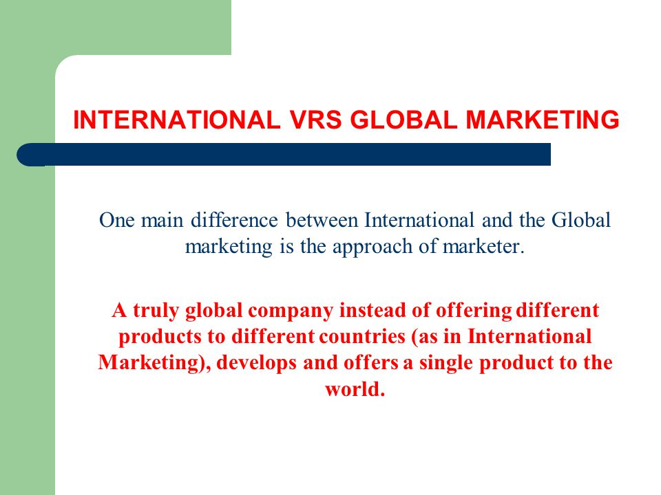 Product Issues in International Marketing