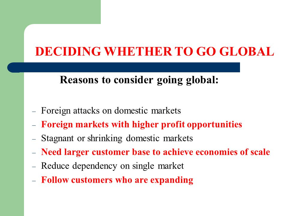 """deciding when to go global So how did we get from living a traditional suburban american life to deciding to  coupled with the small world / global  one thought on """" deciding to go."""