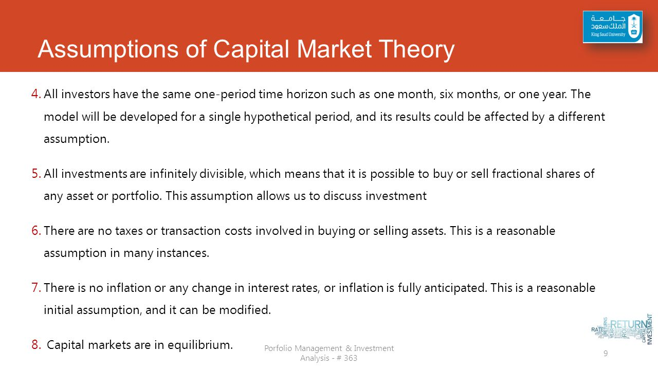 capital asset prices a theory of market Abstract this essay reviews the development of modern capital market theory (ie, general equilibrium models of the prices of capital assets under conditions of uncertainty) and the empirical evidence bearing on this theory.