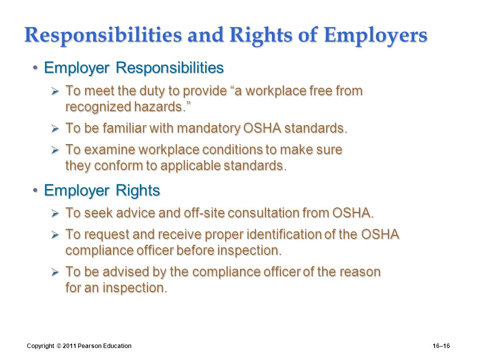 employers rights Employers' rights vary when it comes to employees who leave the company and end the employment relationship although some state laws provide certain rights to employers, many other states are silent on what rights an employer has when an employee walks out on the job.