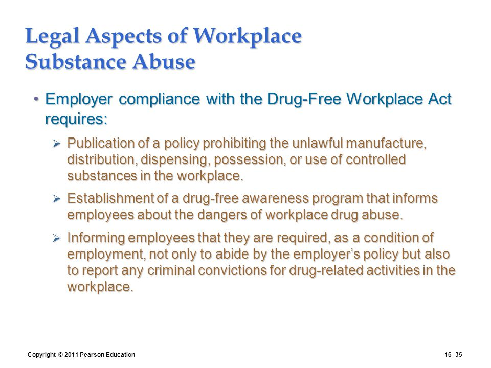 Drugs and Alcohol in the Workplace