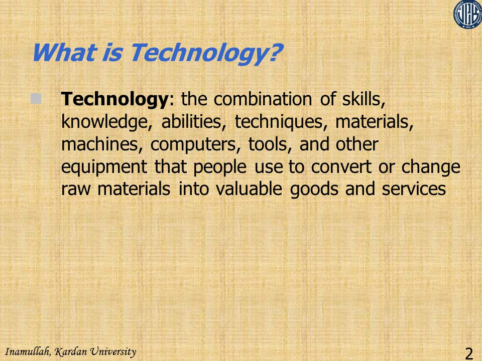 What is Technology