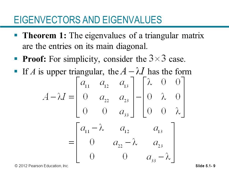 how to solve for eigenvectors