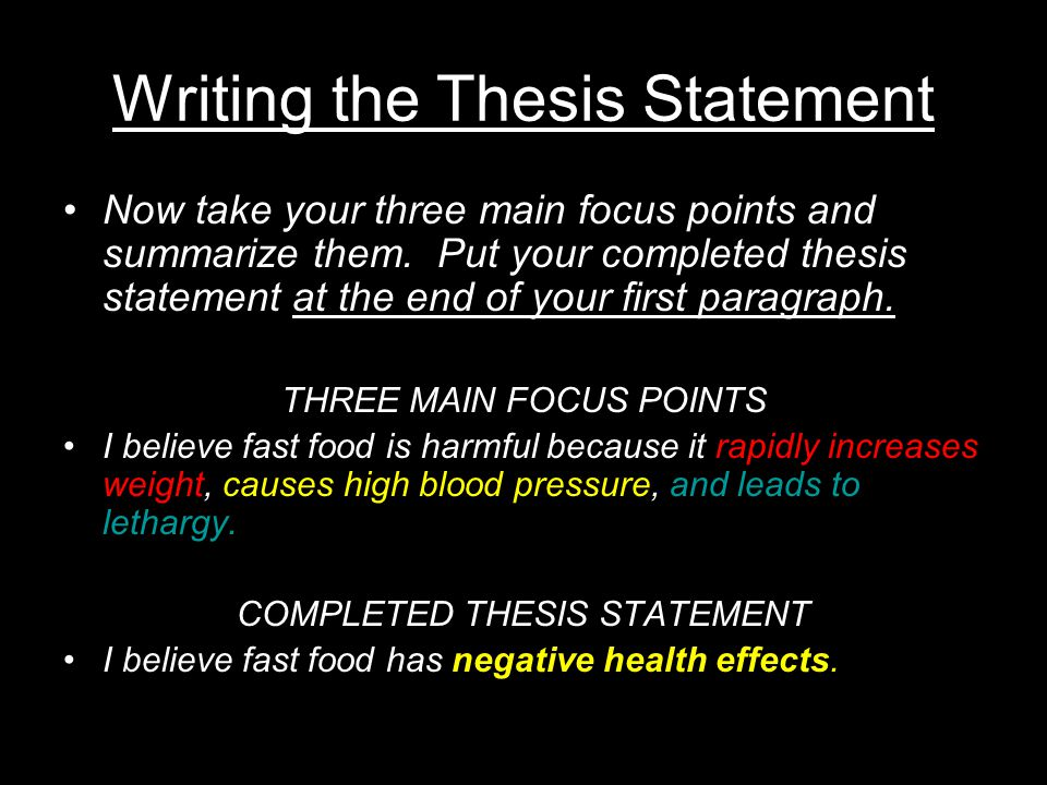 thesis statement three parts