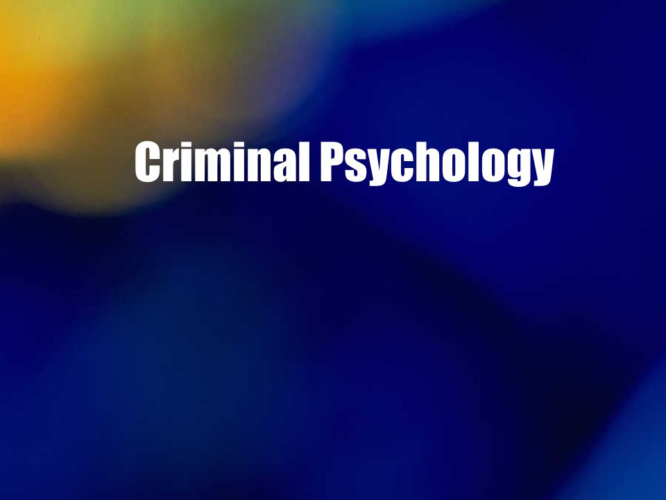 psychology animal abuse and criminal behavior Child abuse, neglect, and violent criminal behavior is professor of criminal justice and psychology at indiana trauma with respect to criminal behavior.