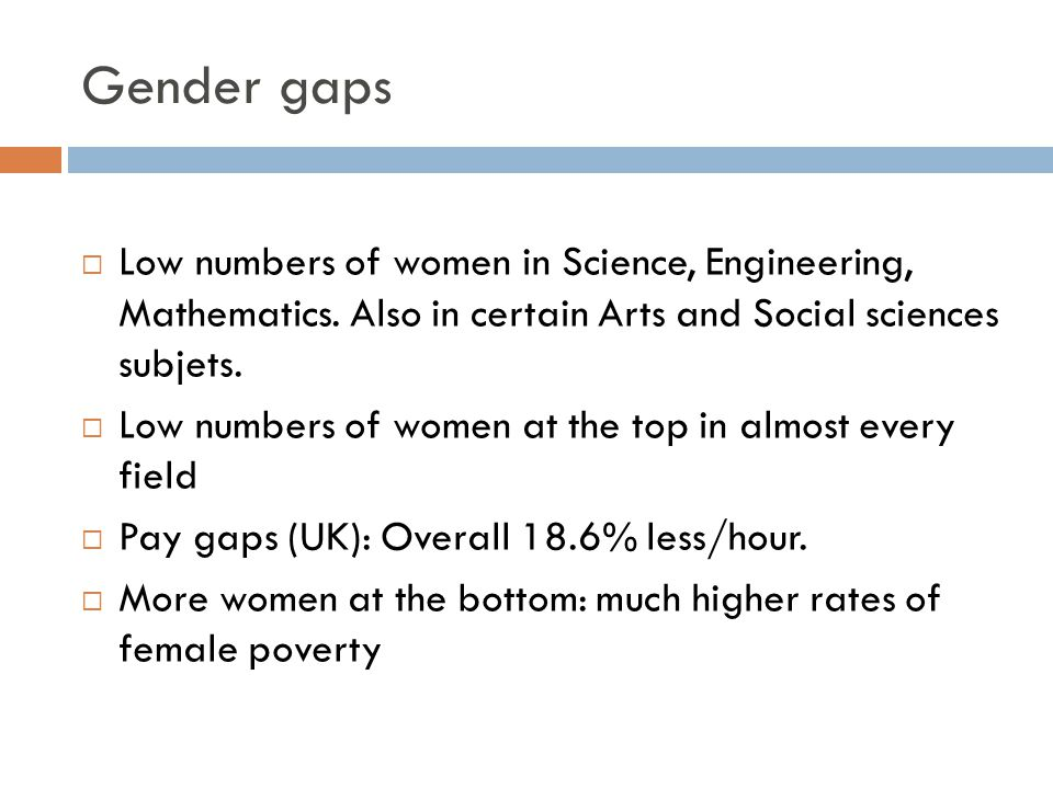 gender equity in math and science essay Read chapter 11 equity and diversity in science and engineering education: gender, language background, disability designation, or national origin a framework for k-12 science education outlines a broad set of expectations for students in science and engineering in grades k-12.
