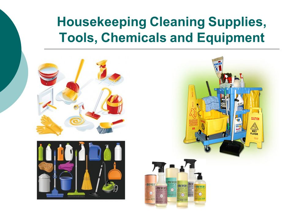 Housekeeping Cleaning Supplies, Tools, Chemicals and Equipment