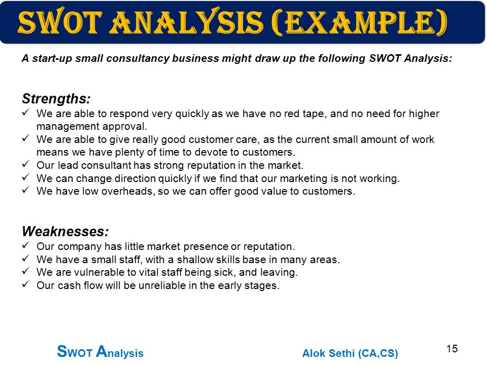 example of a company analysis