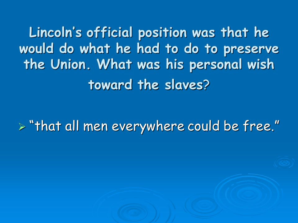 lincoln s goals of preserving the union and freeing the slaves dbq Main page pdf library ap exam sat exam test prep biology chemistry geography economics language literature mathematics pedagogy physics science social science statistics computer science history feedback nonfiction.