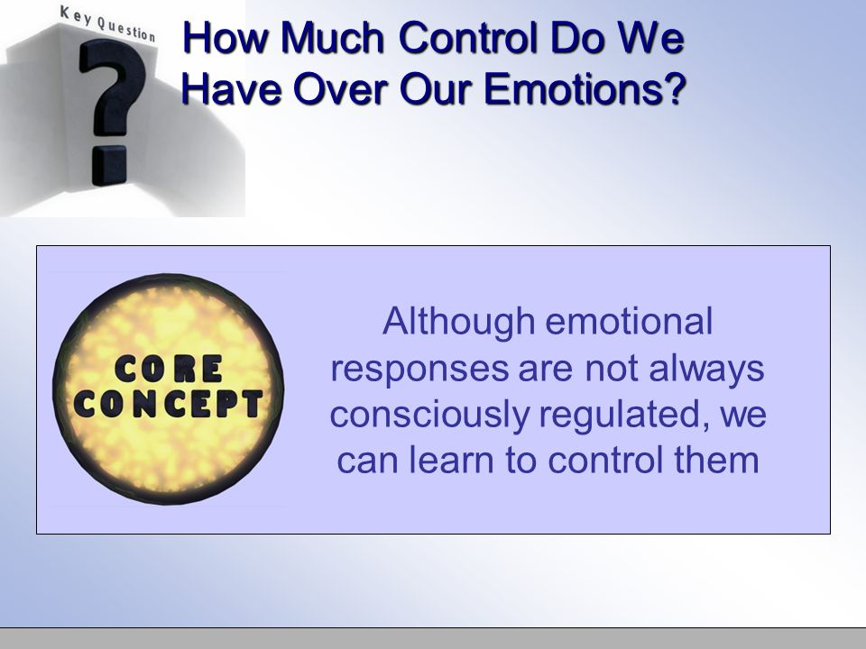 learn how to control emotions