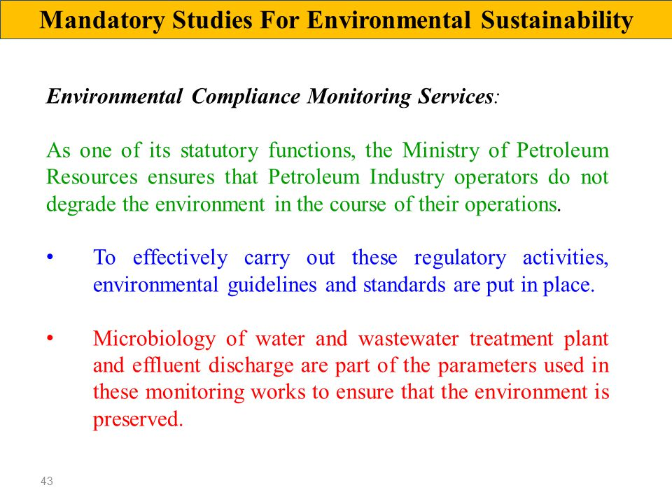environmental guidelines for the water industry