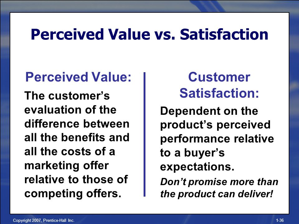 relationship between customers' perceived values satisfaction Aware of all those factors that lead to customer satisfaction in order to achieve  customer  22 relationship between customer loyalty and perceived value.