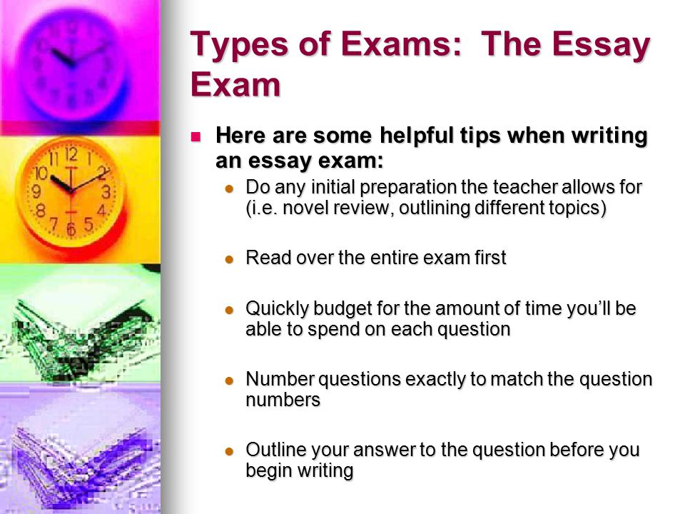 benefits of essay exams Instructors who use open book exams often use essay questions because they test a student's ability to apply the facts and data learned in the curriculum they do.