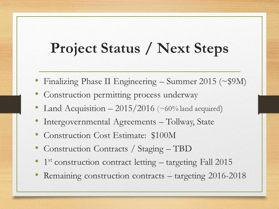 Project Status / Next Steps