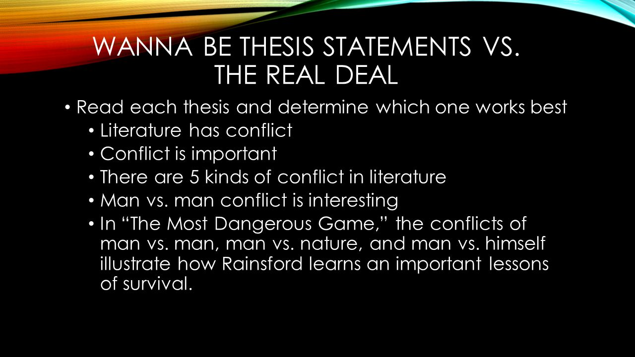 Learning English Essay Example Thesis Statement For The Most Dangerous Game By Richard Connell Business Plan Writers For Non Profits also Examples Of Essay Proposals Thesis Statement For The Most Dangerous Game By Richard Connell Zi  Essay Topics For Research Paper