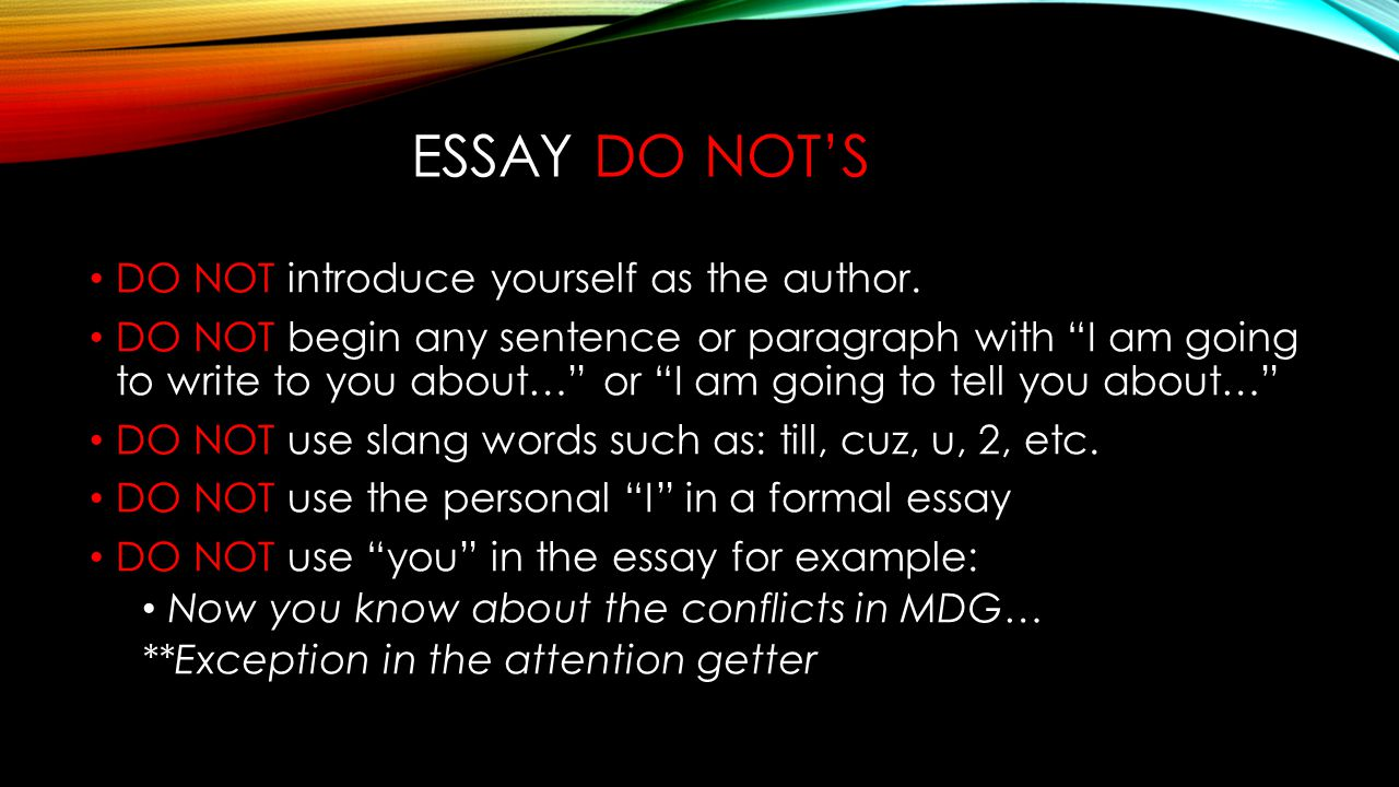 What to include in an essay about yourself