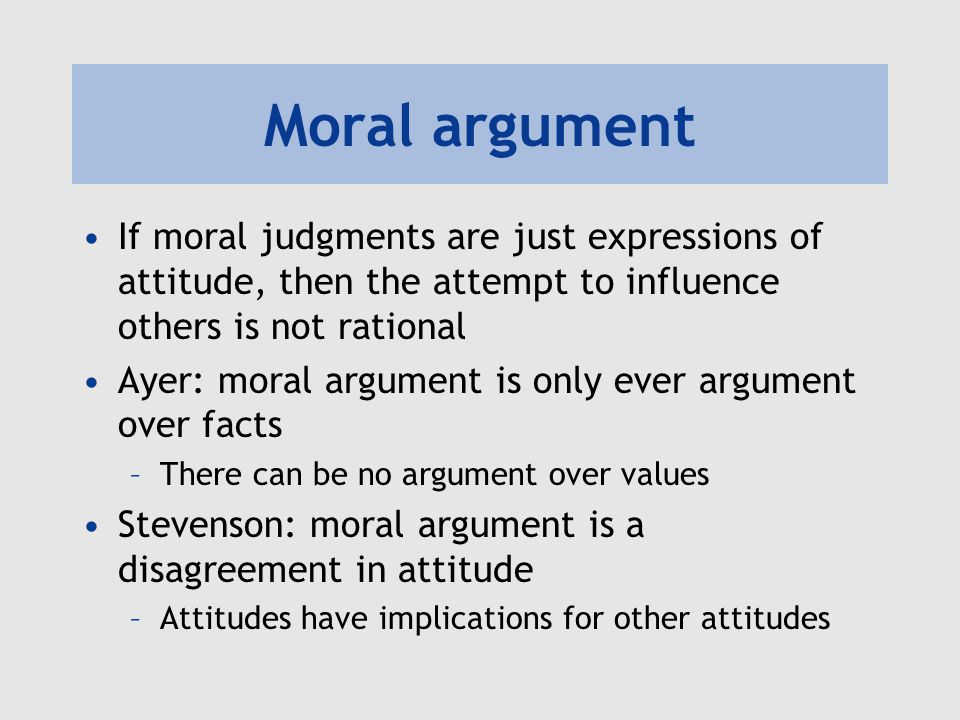morality and summery moral disagreement He explains this lack of change by suggesting that there is a philosophical foundation to all morality and that this foundation is utilitarianism: the belief that a moral action is one which promotes happiness and pleasure without pain.