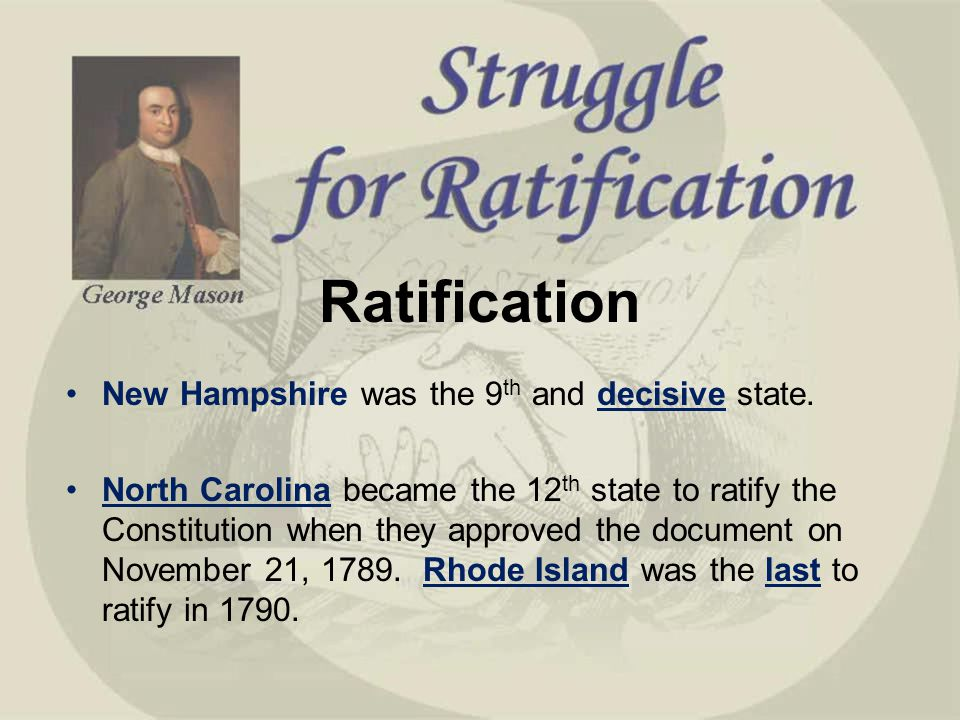 Rhode Island The Th Ratify Constitution