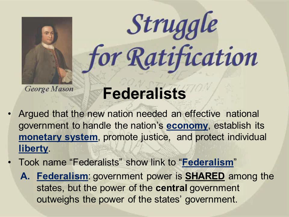 an essay on federalists versus anti federalists Federalists vs anti-federalists essay sample pages: 3 get full essay these groups were the federalists and anti-federalists.