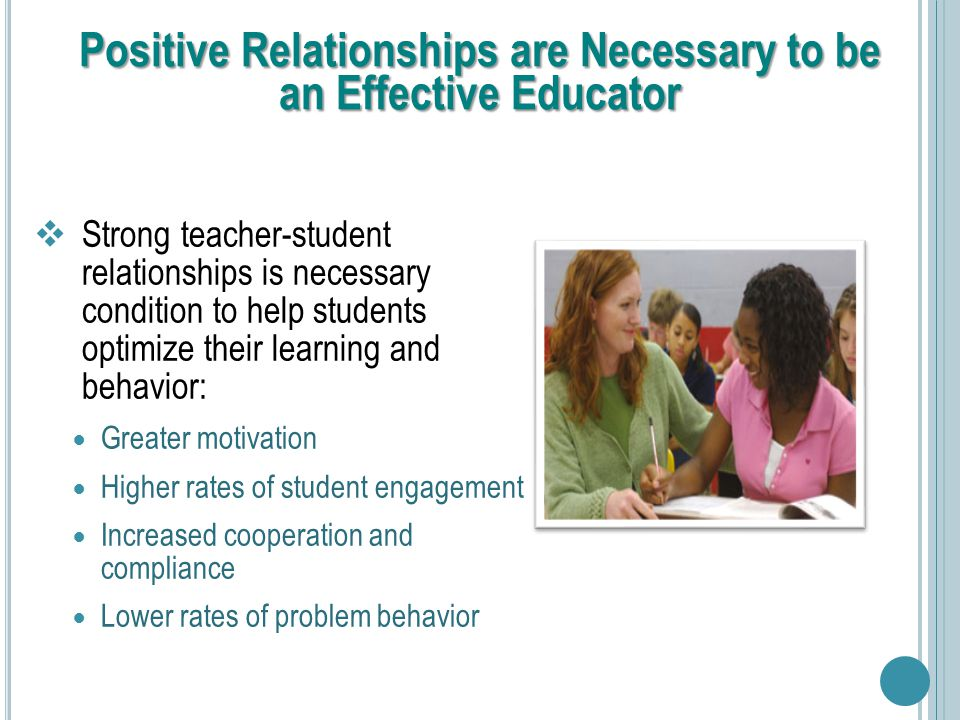 article on teachers and students relationship behavior