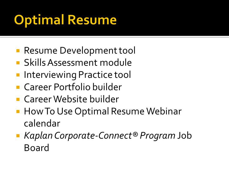 Generous Kaplan Higher Education Optimal Resume Contemporary ...
