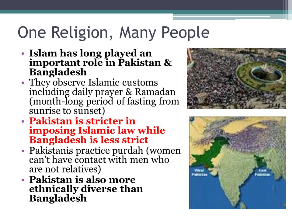 One Religion, Many People