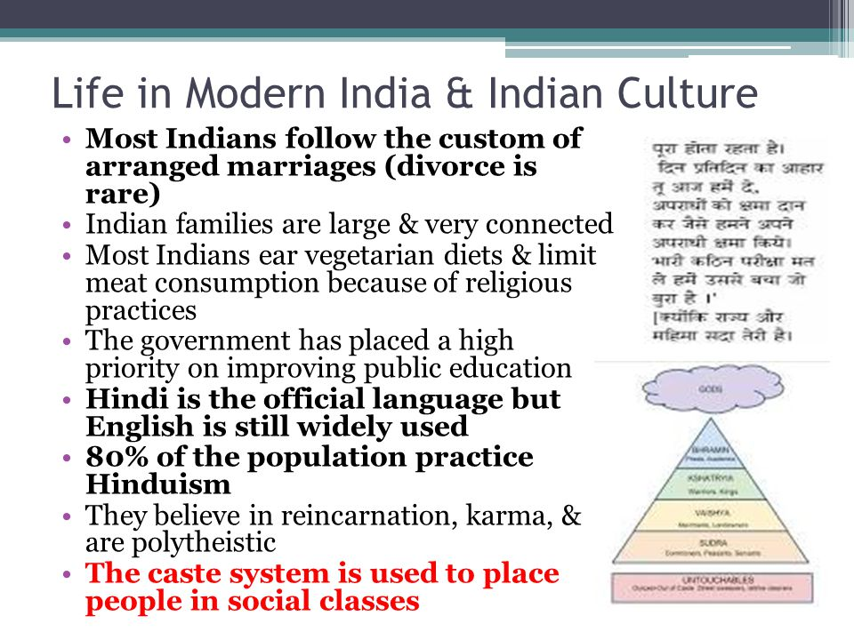 Life in Modern India & Indian Culture