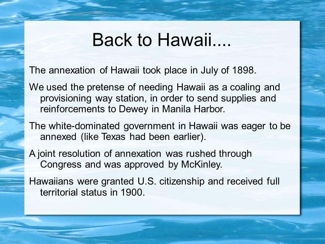 annexation of hawaii proves controversial
