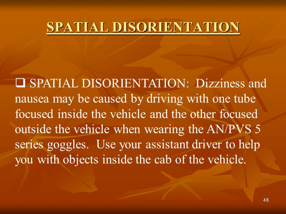 the affects of spatial disorientation on Visuospatial disorientation is often attributable to hippocampal damage [5, 6] that is typical of early ad [7, 8] the role of the hippocampus in visuo- spatial orientation is well established [9] with neuronal place cell responses to specific locations in familiar environments [10–12] this is consistent with human hippocampal.