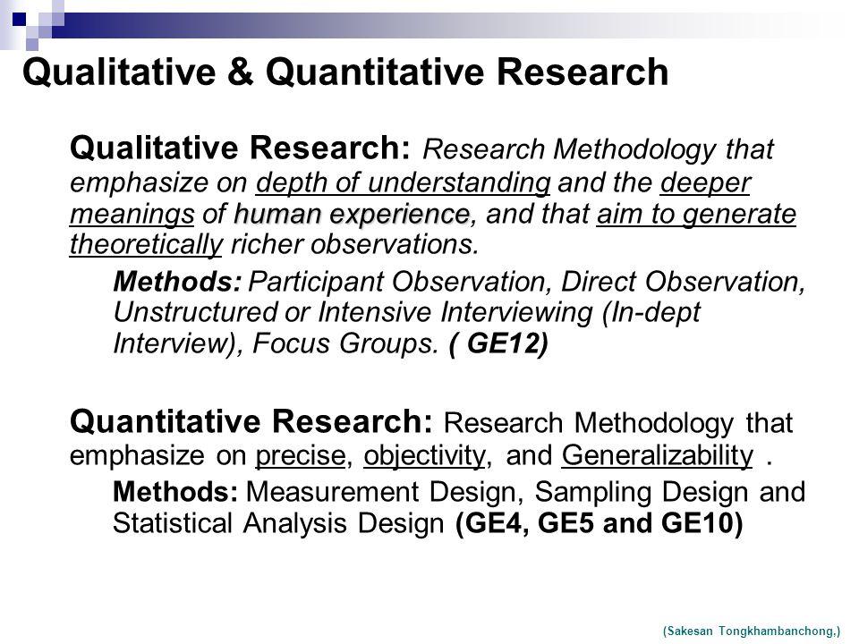 research methodology and statistical quantitative methods pdf