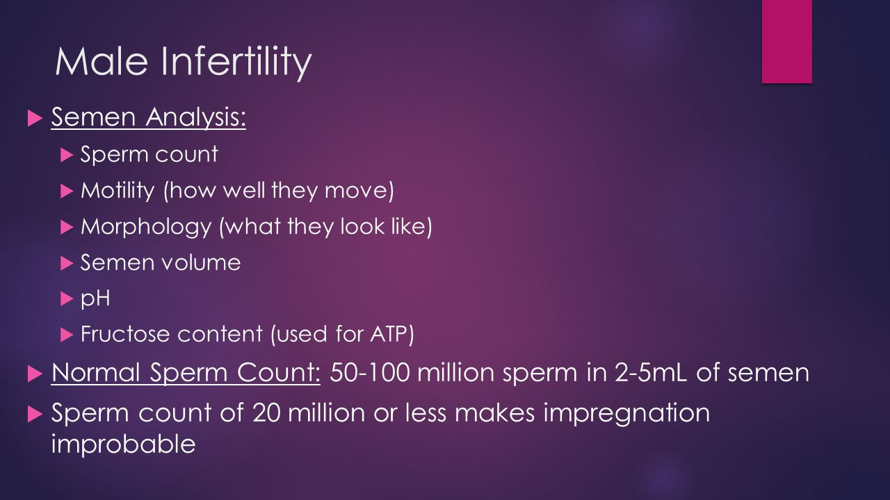 Have hit normal sperm count motility
