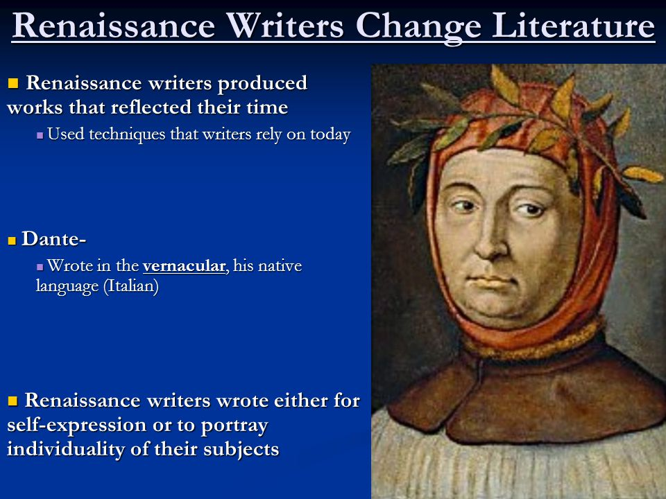italian renaissance writers Quizlet provides writers italian renaissance activities, flashcards and games start learning today for free.