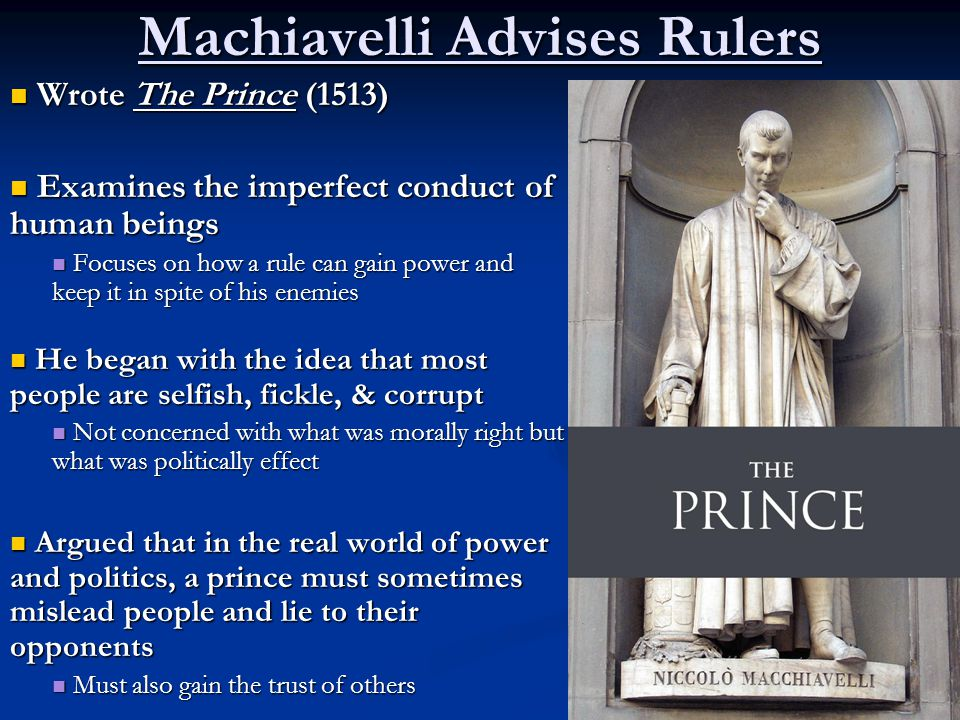 machiavelli ideals of the renaissance an analysis War and politics in the thought of machiavelli  alexander amoroso san jose state university (san jose, california) niccolò machiavelli (1469−1527) was an author of political thought and theory during the renaissance whose ideas on corruption in government, as well as the benevolence of a republic, were widely recognized as an authority on what to do and what not to do in in the field of .