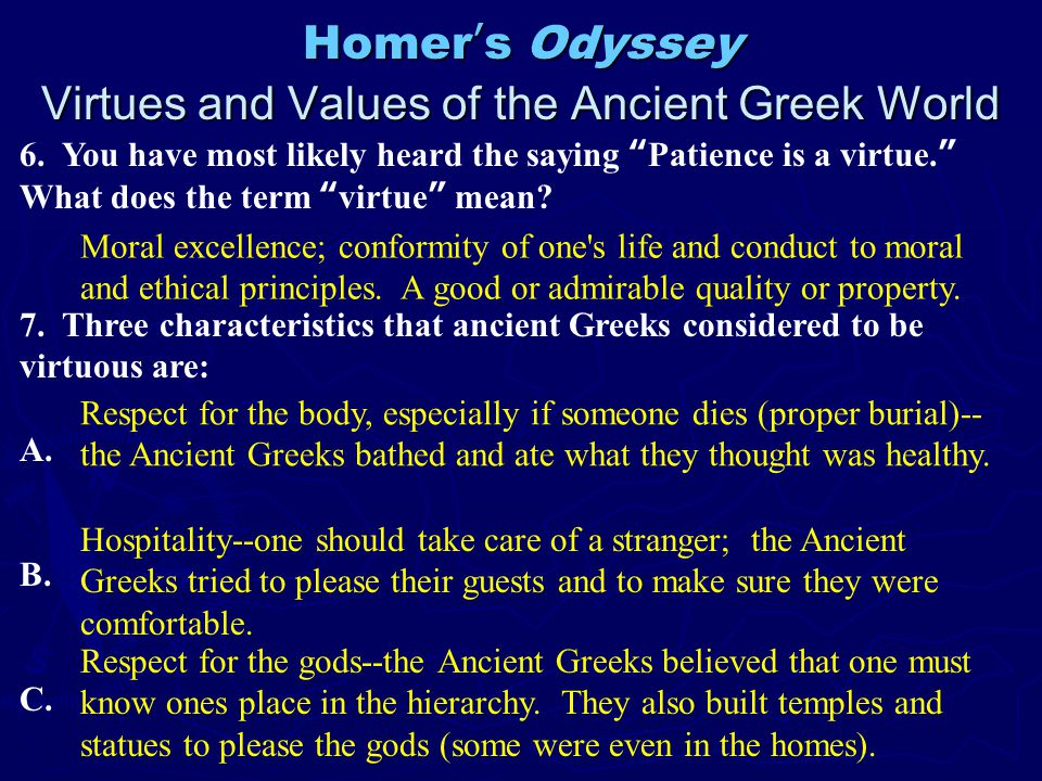 hospitality in the odyssey essay example The odyssey: hospitality essays learn from your own writing throughout the various challenges in the odyssey, there are examples of hospitality being ignored and.