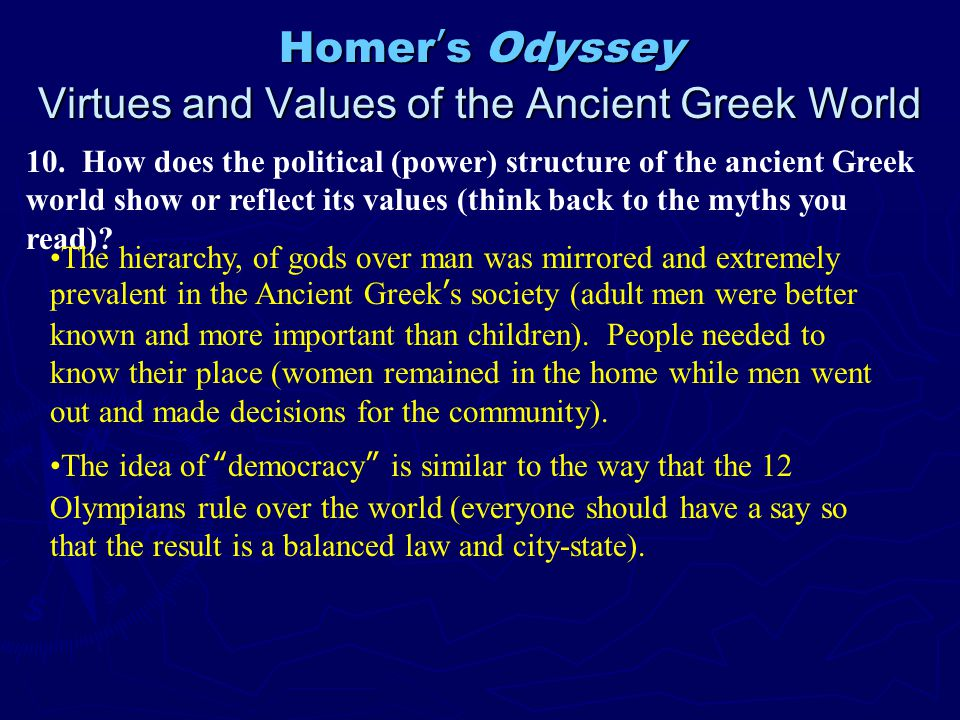 an analysis of female power in the odyssey by homer According to mary beard's new book, women & power: a manifesto, the  this  occurs in homer's the odyssey when telemachus tells his.