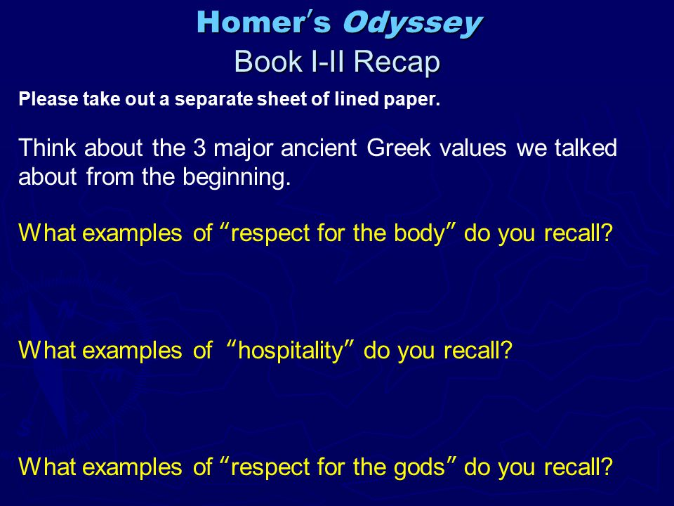 homer s odyssey value of athleticism hospitality Hospitality in homer's odyssey essay - hospitality in homer's odyssey the first four books of homer's odyssey depict certain instances of hospitality which are filled with generosity one reason for the importance of this hospitality could have been a respect for foreigners, who were completely at the mercy of their hosts, especially when hosts.