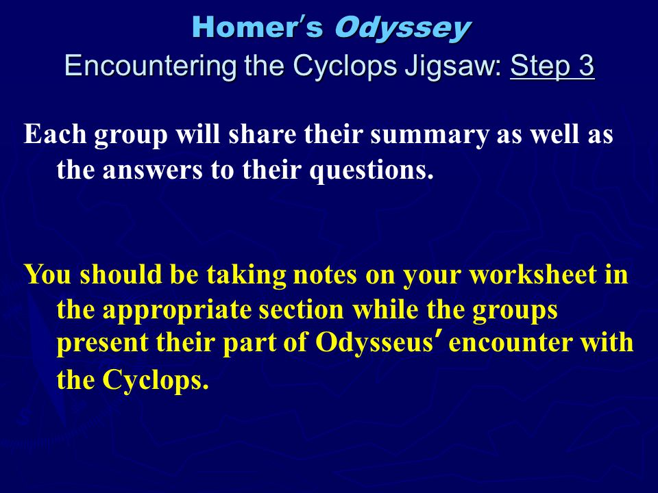 an overview of the legend of odysseus in odyssey by homer Overview homer's odyssey,  estate of odysseus, who had left his home twenty years before,  (legend has it that,.
