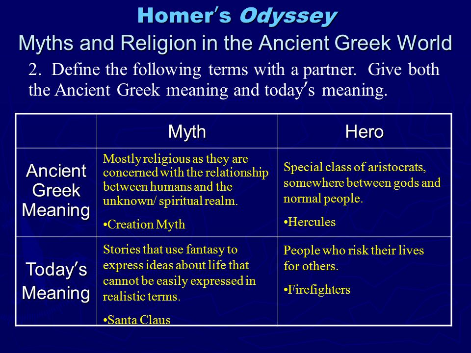 religion in the odyssey Religion, psychology  b the iliad and the odyssey: story of the trojan war:  paris, son of king priam of troy, seduced and brought back to troy the beautiful.