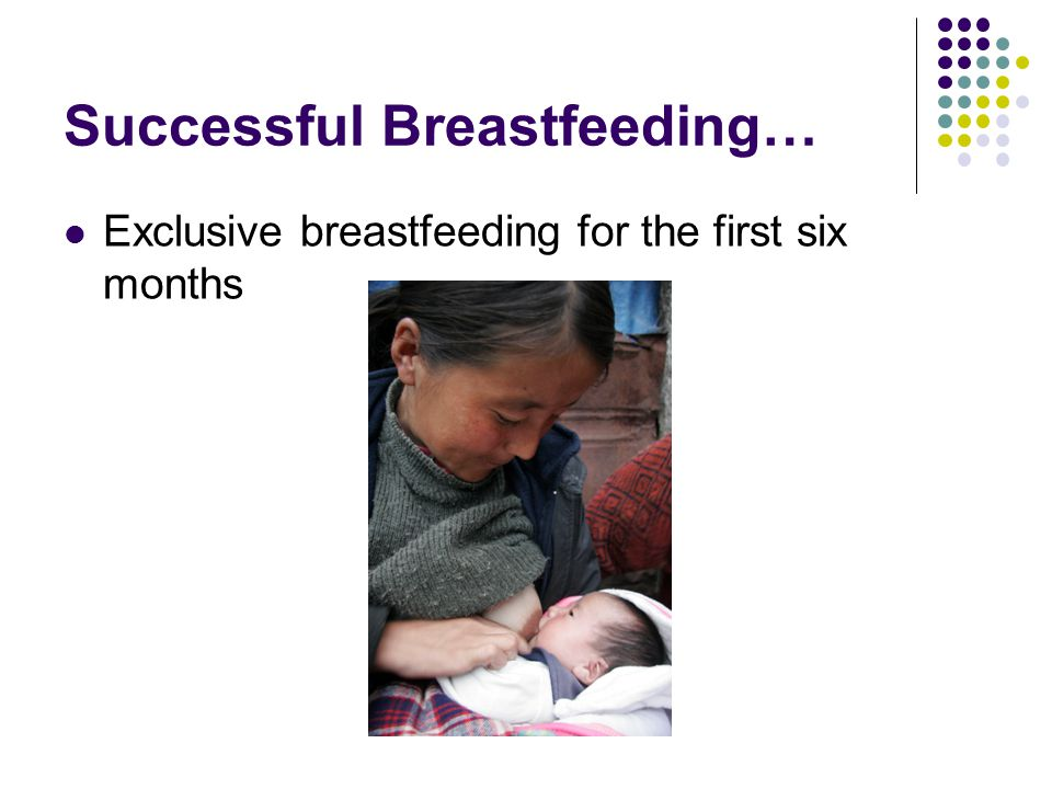 Successful Breastfeeding…