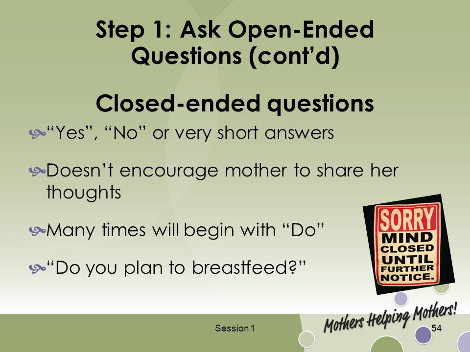 how to ask open questions