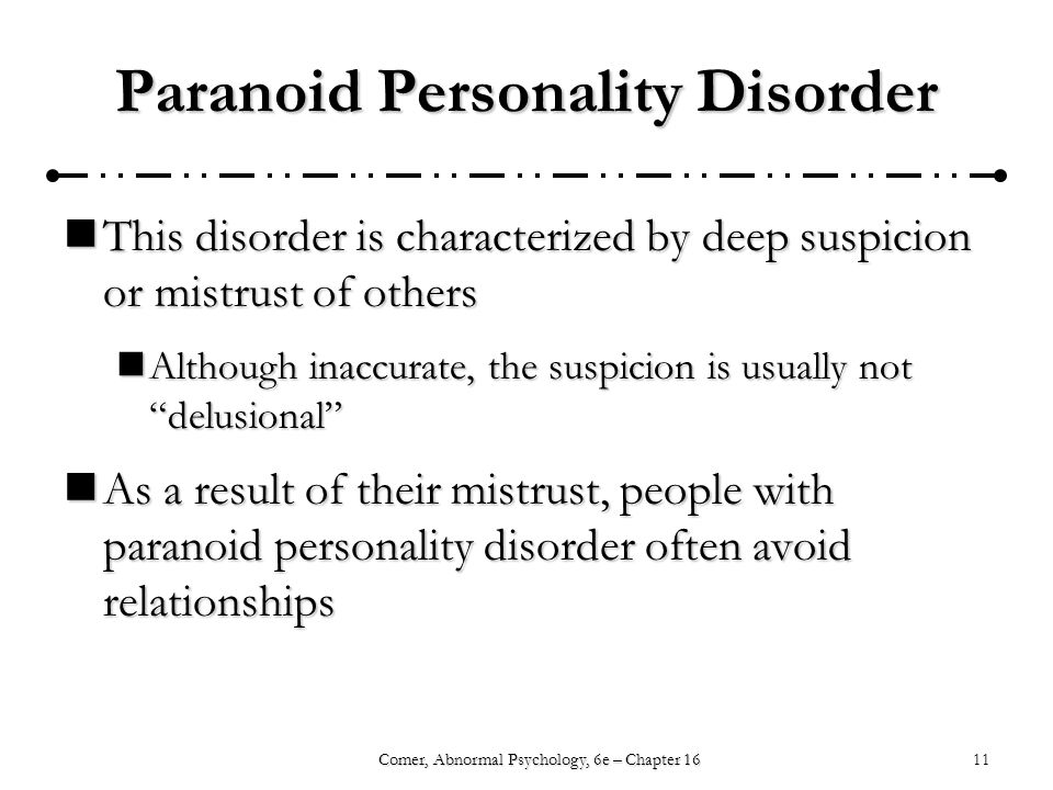 abnormal personality disorder The antisocial personality one last category of personality disorder from dsm-iv is personality disorder not otherwise specified (personality disorder nos.