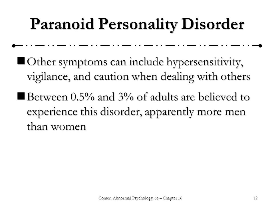 abnormal personality disorder Abnormal psychology course syllabus course mentor: abnormal personality patterns personality disorder.