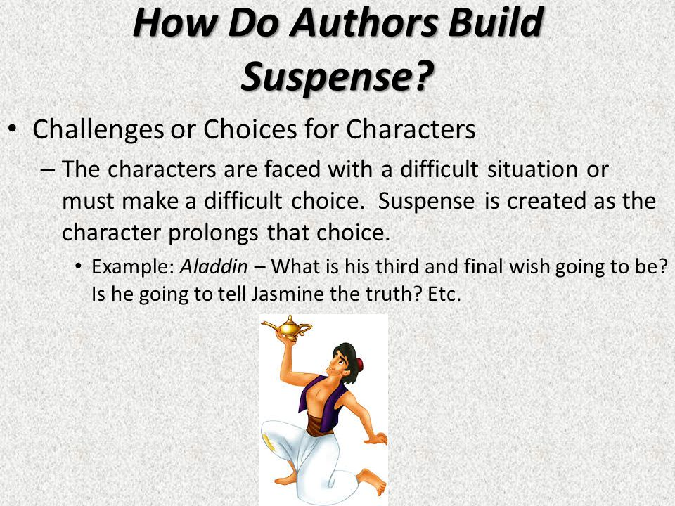 how do authors create suspense and Dahl uses mary's normal routine to create suspense in lamb to the slaughter the author gives readers a chill by escalating the plot line as police.