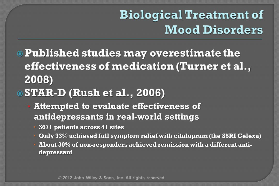evaluate the biological treatments of depression Depressions that are more biological in their origins (melancholic depression and psychotic depression) are more likely to need physical treatments ( antidepressants) and less likely to be resolved with psychological treatments alone non-melancholic depression which is linked to psychological factors, personality.
