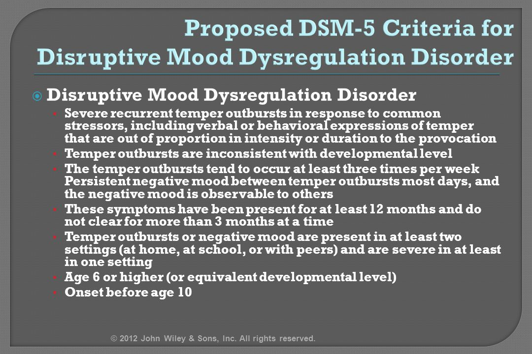 Disruptive Mood Dysregulation Disorder Treatment PowerPoint Lect...