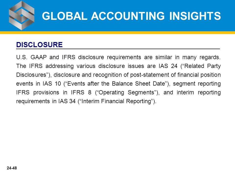 Ifrs as global mean for financial reporting