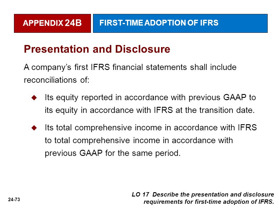 "Publication of ""IFRS Adoption Report"""