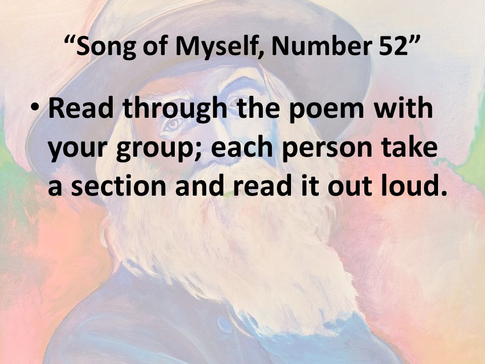 Song of Myself, Number 52
