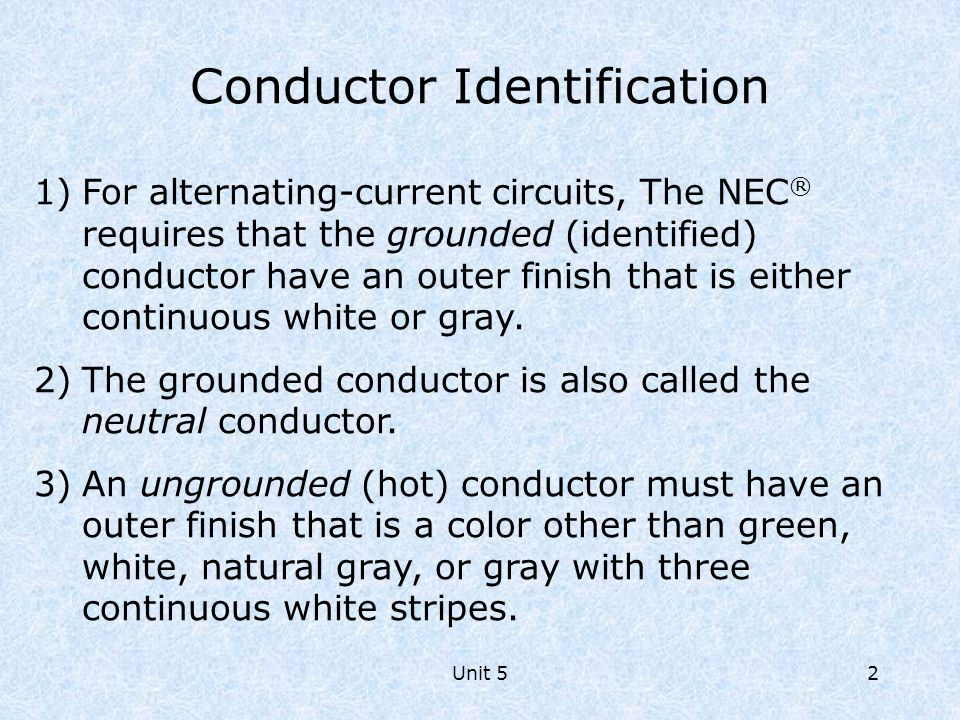 Conductor Identification